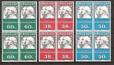URUGUAY # C 203-5 MNH U.S. PRESIDENT EISENHOWER VISIT