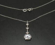 "Quadruple Journey Pendant Chain 925 Sterling Silver 18"""