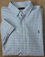 Ralph Lauren Button Down Oxford Shirt XXL Navy Blue Green Gingham NWT Men's