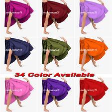 Satin Belly Dancing Asymmetrical skirts  High low skirts Ballet Dance Skirt S73