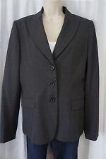 "Elie Tahari Blazer Sz 8 Charcoal Blue Gill Pin Stripe ""Montana Jacket"" Business"