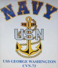 USS GEORGE WASHINGTON CVN-73*  AIRCRAFT CARRIER U.S NAVY W/ ANCHOR* SHIRT