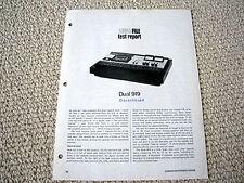 Dual C-919 cassette deck review reprint