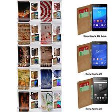 For Xperia XZ XA XP M4 Aqua Z5 Series Z3 - Music Note Print Wallet Phone Case