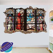 Chucrch Cristo Religión 3D Gráfico Arte Pared Adhesivo Decoración De Habitación Calcomanía Mural ZJ0