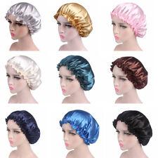 Ladies Wide Band Satin Bonnet Chemo Cancer Night Sleep Cap Hat Hair Turban