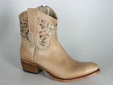 8602 Sendra Ankle boots Olimpia Milk Cuoio Nieten