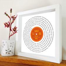 The Beatles-Penny Lane-vinyl record Encadrée IMPRIMER-CHANSON LYRIQUE Art-toute chanson