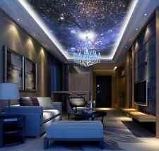 3D Purple Space&Stars Ceiling WallPaper Murals Wall Print Decal Deco AJWALLPAPER