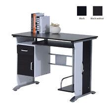 Computer Desk Workstation Table Sliding Keyboard Shelf Wood Drawer Office Home