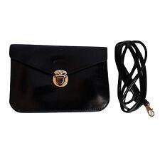 Borsa pochette donna nera Tracolla grigia Simil Pelle Messenger piccola borsetta
