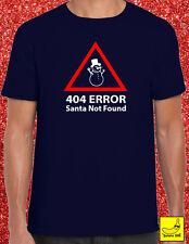 Christmas Santa Not Found Computing T-Shirt Festive Xmas Santa Gift Festive Geek