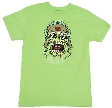 New! Quiksilver Neon Green Cavity Creep T-Shirt Boys' Kids Youth L-XL