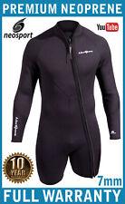 7mm Men's NeoSport Wetsuit Jacket Diving - Premium Neoprene