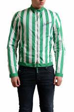 Dsquared2 Men's Multi-Color Striped Full Zip Windbreaker Jacket US 2XS XS
