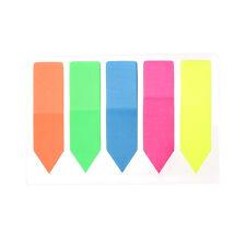 Mezclado Neon Notas Adhesivas Flecha índice Marca Oficina Pestañas marcador Papelería H62 Ml