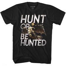 MONSTER HUNTER Capcom T-Shirt Adult Video Game HUNT BLACK IN Sizes SM - 5XL