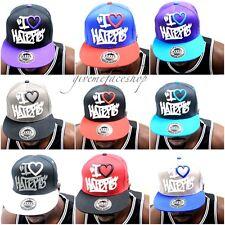 I love haters cappello snapback,graffiti visiera piatta cappellini da baseball,