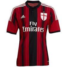 adidas Mens ACM AC Milan Home Shirt Black/Red/White Football Shirt NEW RRP60