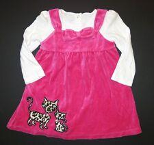 Gymboree girls kitty cat bow glamour leopard Parisian chic dress long sleeve 3T
