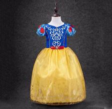 Schneewittchen Kostüm Mädchenkleid Karneval Prinzessin Fasching Gr. 104-122