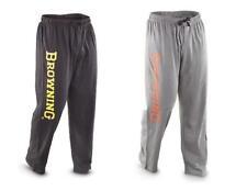 Mens BROWNING Buckmark CLASSIC LOUNGE Sweat PANTS  *BLACK or GRAY w/Silk Screen