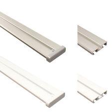 Gardinenschienen 2-läufig weiß oder silber Aluminium Vorhangschienen