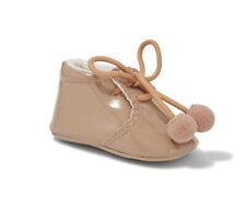 SEVVA Joe Romany Spanish Style Patent Camel Pom Pom Soft Boots Unisex Pram Shoes