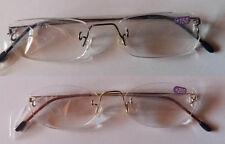 Occhiali unisex metallo lettura presbiopia gradazioni 1-1,5-2-2,5-3 oro nero