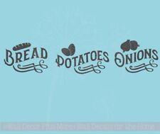 Bread Potatoes Onions Label Kitchen Storage Vinyl Stickers Wall Decals Farmhouse