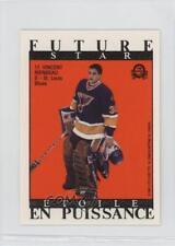 1989-90 O-Pee-Chee Future/All-Star Sticker Backs 17 Vincent Riendeau Hockey Card