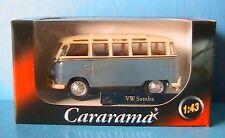 VW T1 BULLI SAMBA LIGHT BLUE CARARAMA 1/43 MINI BUS