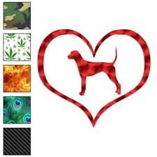 Heart Plott Hound Love Decal Sticker Choose Pattern + Size #1497