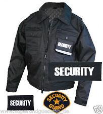 BU Security Abzeichen Aufnäher Patch Rückenpatch Brustpatch Klett zu Auswahl