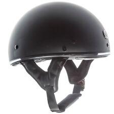 TORC T5 Fiberglass Cruiser 1/2 Half Face Motorcycle Helmet - Flat Black Chrome