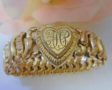 Antique American Queen 12k Gold GF Sweet Heart Bracelet