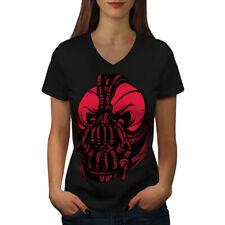 Evil Bane Máscara Comic Mujer Cuello en V wellcoda Camiseta Nuevo |