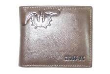 Nuevo de alta calidad cuero crosox para hombre de tarjeta de crédito moneda cremallera componente Cartera