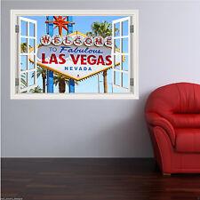 Full Colour LAS VEGAS NEVADA USA Wall Art Sticker Decal Trasferimento Murale WSD367