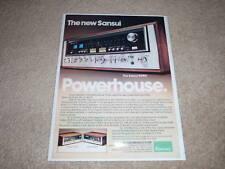Sansui 9090 Super Receiver Ad, 1977, Article, 1 page