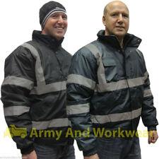 Hi Viz Bomber Riflettente Impermeabile Imbottito Lavoro da Uomo Giacca Cappotto sia Guard da Uomo