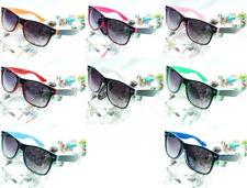 Sonnenbrille Wayfarer Nerd Brille Hornbrille Brille o.Stärke Etui Brillenetui