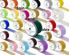Choice of Colour Wired Chiffon ORGANZA Ribbon 70, 50, 32mm Wide x 20m Long