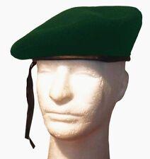 French Wool Monty Military GI Beret Cap Hat-Green