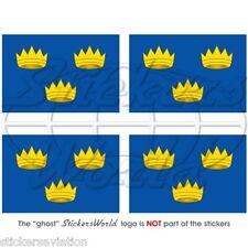 IRLAND Munster Province Flagge IRISCHEN Fahne 50mm Vinyl Sticker Aufkleber x4