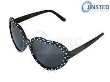 Childrens Black Frame Polka Dot Lolita Heart Shape High Quality Sunglasses KH004