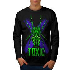 Toxic Negro Araña Animal Hombre Manga Larga T-shirt new | wellcoda