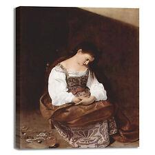 Caravaggio Maddalena penitente quadro stampa tela dipinto telaio arredo casa