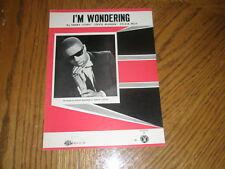 STEVIE WONDER / I'M WONDERING ~ '67 SHEET MUSIC ~ NR MT