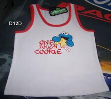 Sesame Street Cookie Monster Ladies Printed Singlet Top Size 14 New